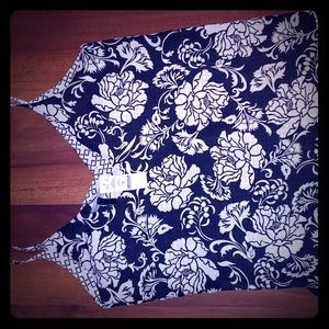 NWT WHBM Reversible Floral Cami Sz S